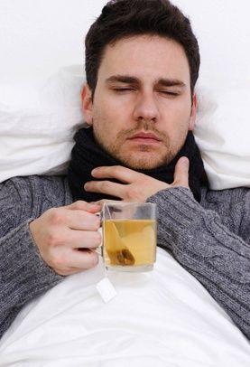 Першит в горле перед сном