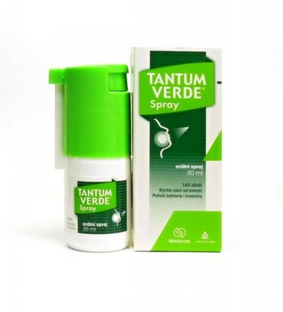 Тантум Верде хорошо снимает боль в горле и воспаление