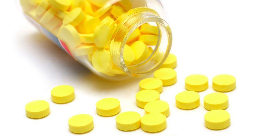 Ярко-желтые таблетки используются для приготовления раствора
