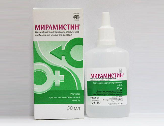 Мирамистин – средство для полосканий при лечении ангины