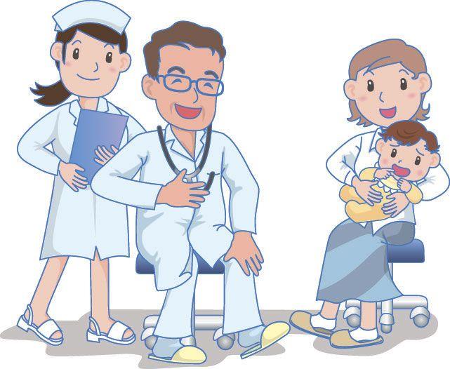 Маленький пациент на приеме у врача