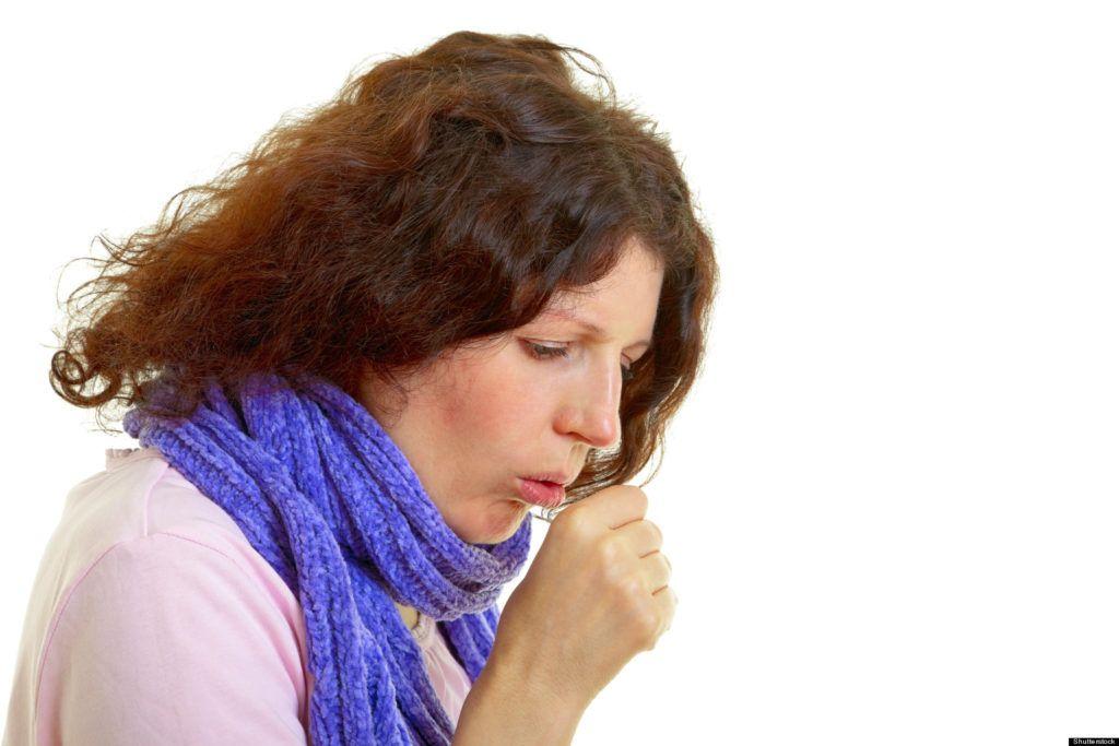 Першит в горле и сухой кашель