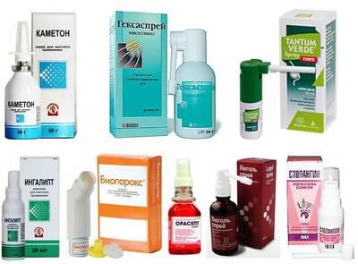 Разнообразие лекарств для горла