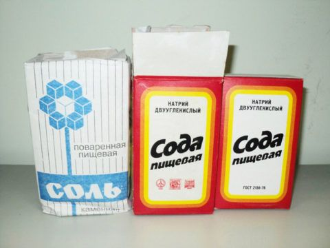 Соль и сода надежные и доступные средства для полоскания горла при тонзиллите