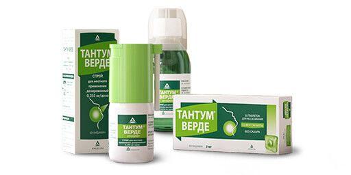 Тантум Верде - средство от сильной боли в горле