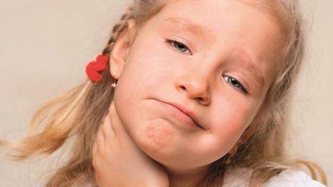 Боли в горле и температура у ребенка