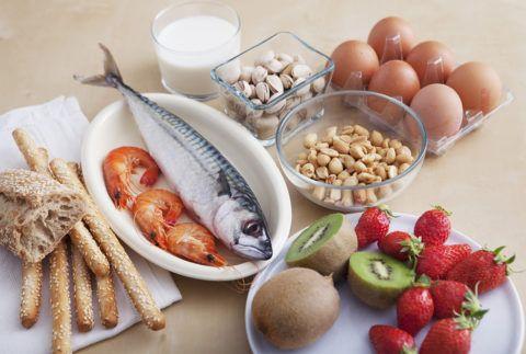 На фото – распространенные пищевые аллергены