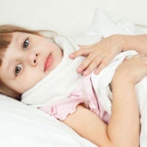 Народные средства от сильной боли в горле: компресс ребенку