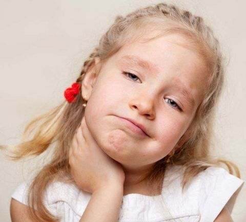 Симптом першения в горле у детей