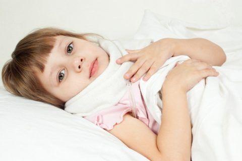 При болях в горле поможет теплый компресс