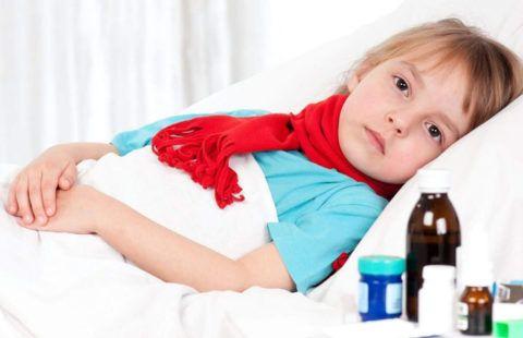 Ангина у ребенка без температуры часто наблюдается сразу после перенесенного тяжелого заболевания