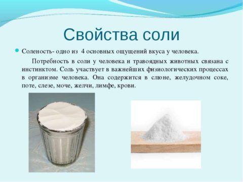 Фото. Соль это необходимый для жизни элемент
