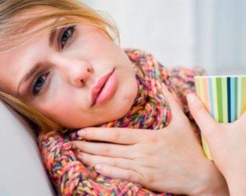 Простуда практически всегда сопровождается воспалением горла