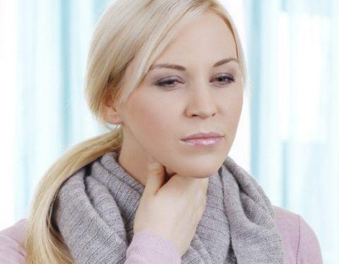 Боль при воспалении носоглотки и гортани.