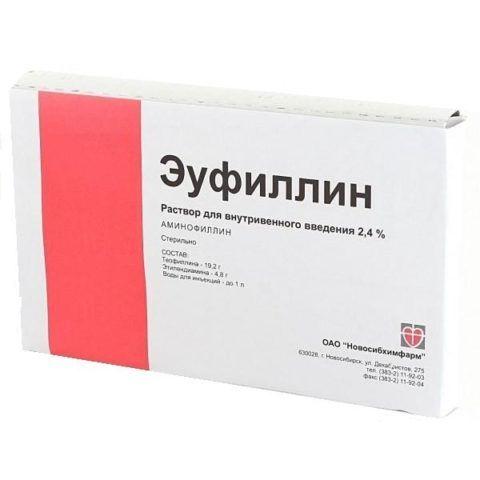 Раствор для уколов Эуфиллин