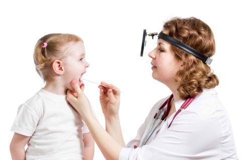 Заболевания горла может вылечить детский ЛОР-врач