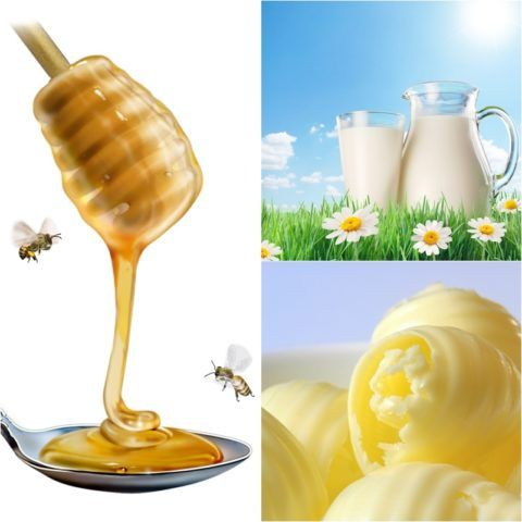 Масло, молоко и мед