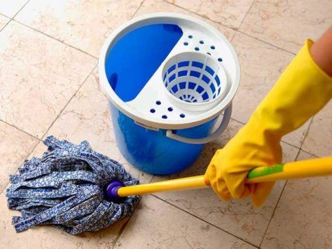 Влажная уборка для увлажнения воздуха