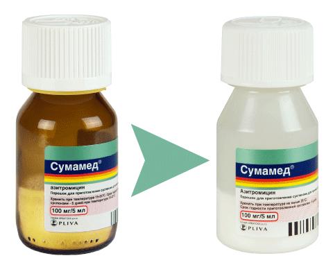 Антибиотик Сумамед детям