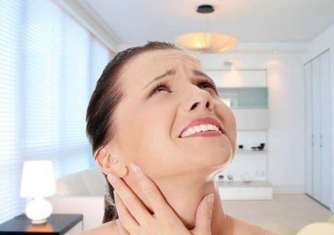 Лечение боли в гортани дома