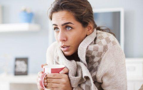 Простуда и повышение температуры