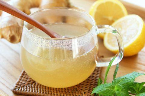 Полоскание горла лимонным соком