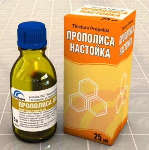 Аптечная упаковка прополисной настойки